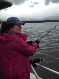 Michelle fishing